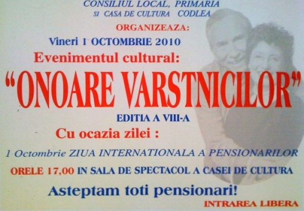 Ziua internationala a pensionarului