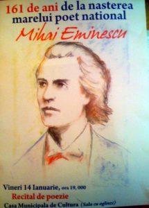 161 ani de la nasterea lui Mihai Eminescu