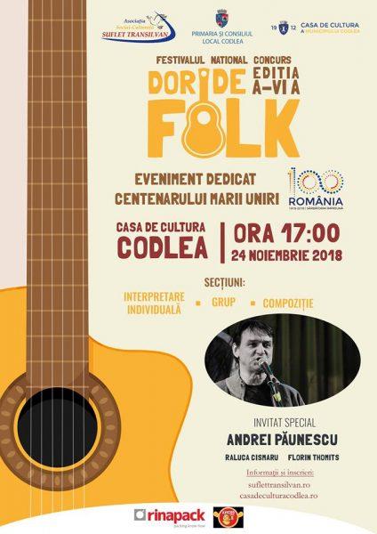 """Festivalul """"Dor de Folk"""" , EDITIA A VI-A"""
