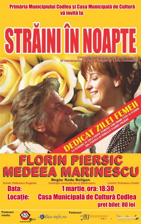 """Florin Piersic și Medeea Marinescu """"Străini în noapte"""""""
